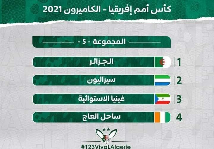المجموعة الخامسة 5 في كأس أمم افريقيا 2021 الجزائر