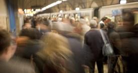 Foule sur le quai du métro
