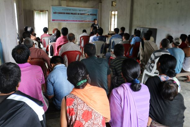 community meeting at phalong impacts of ADB financed road project on 23 August 2019