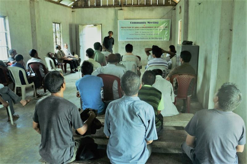 Protection of Land and Environment in Tamenglong Areas : Community meeting