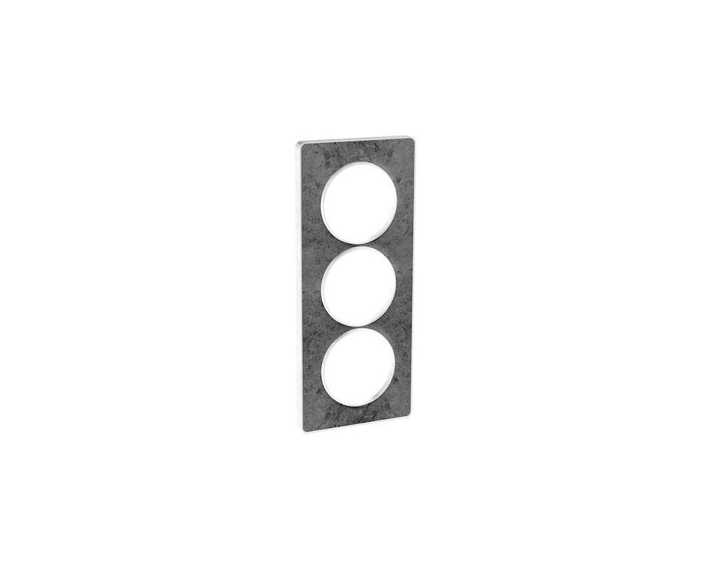 odace touch plaque pierre galet 3 postes verticaux entraxe 57mm s520816u schneider electric