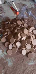 coir discs in factory