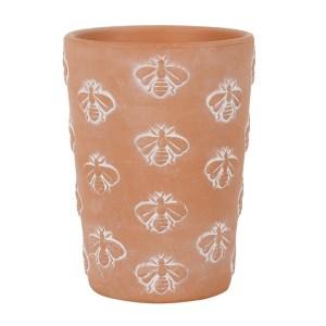 terracotta bee pot 1