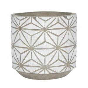 white geometric pot 1