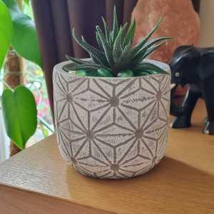 white pot on unit