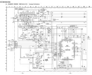 Sony XR1804 Schematic Diagram (Main  Front) in PDF