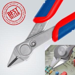 Клещи резачки Electronic Super Knips® с многокомпонентни обложки 125 mm, 78 03 125, VDE, KNIPEX