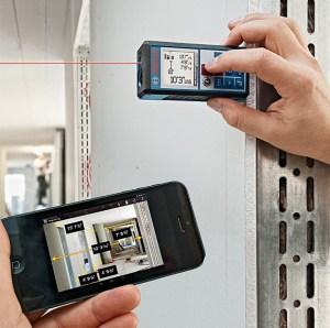 лазерни ролетки - възможност за прехвърляне на данни през Bluetooth интерфейс – повечето световни производители вече интегрират тази система за своите лазерни ролетки