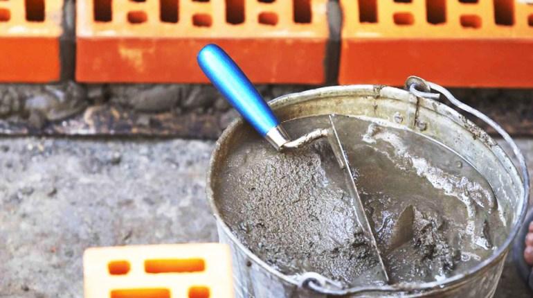 Строителен разтвор с цимент, вар, гипс или глина