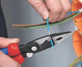 Клещи КНИПЕКС за електрически инсталации - забелване