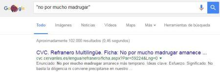 buscar en google - comillas