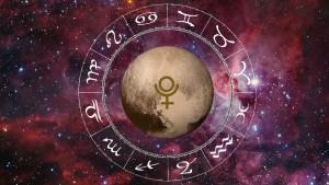 Pluto in zodiac, imagine reprezentativa