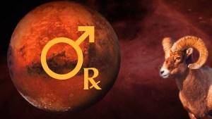 Marte retrograd în Berbec