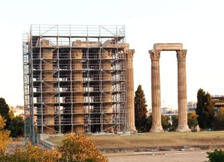 Συντήρηση του Ναού του Ολυμπίου Διός