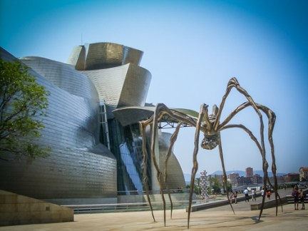 Not all art is INSIDE the Guggenheim
