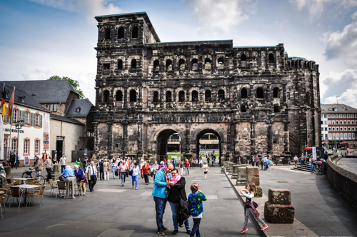 The Porta Nigra, the City Gate, is best preserved Roman building north of the Alps