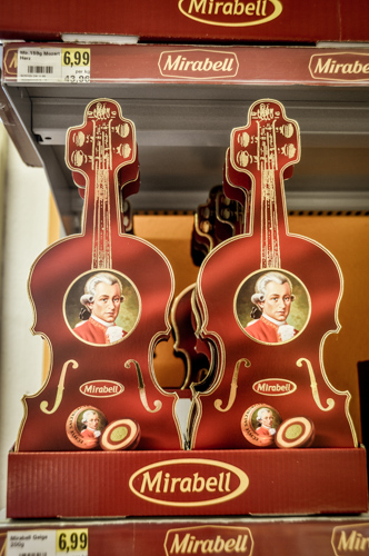 The astonishing thing is, that the supply of all things Mozart is equally balanced by the demand. Everyone buys something Mozart related while in Salzburg.