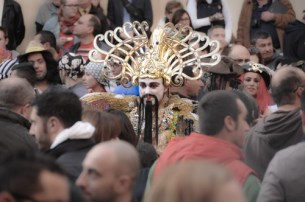 The carnival is a huge event in Valletta