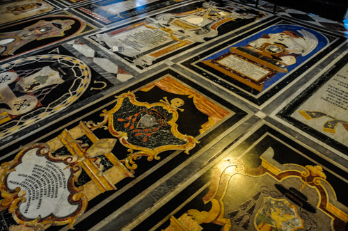 Stunning flooring of St. Paul's Cathedral