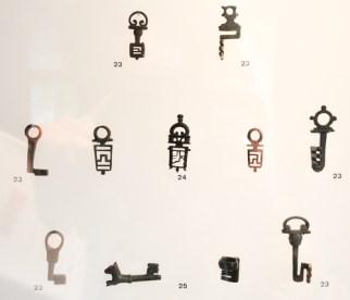 Curoius locks and keys at museum Carré Plantagenet