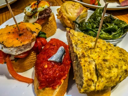 """Basque cuisine was criticised by Picaud in medieval times, but """"Pintxos"""" are small """"tapas"""" from heaven!"""