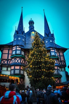 The centre of Wernigerode is overlooked by the beautiful two-spire Rathaus centrally located in Marktplatz