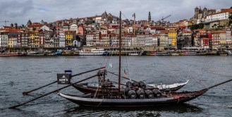 The Rabelo boat - a traditional Portuguese cargo boat used to transport people and goods along the Douro River