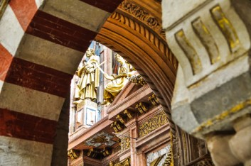 Moorish arches meet Renaissance decorations