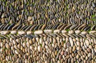 "Pebble Mosaic in the outdoor ""Patio de los Naranjos"""