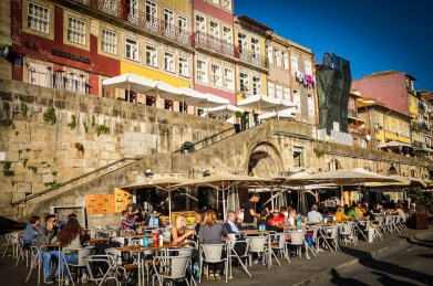 The Ribeira are is somewhat expensive, but it's a great spot to soak some sun and watch life go by