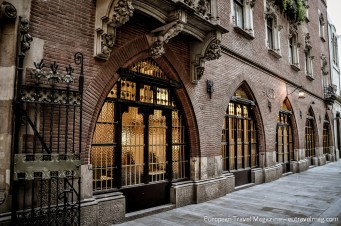 The building itself was designed by Puig i Cadafalch and if you've been to the Art Nouveau cava winery Cavas Codorniu, you might recognize his Gothic arched windows