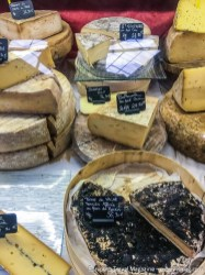 The market is the best way to discover the different cheeses by sampling your way through the impressive selection