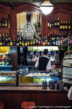 They have a wonderful Art Nouveau bar