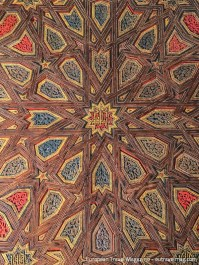 Amazing woodwork at the ceiling at the Patio de las Doncellas