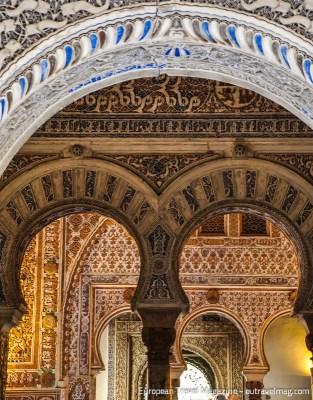 The Mudéjar ornamentation of the Salón de Embajadores is awe-inspiring