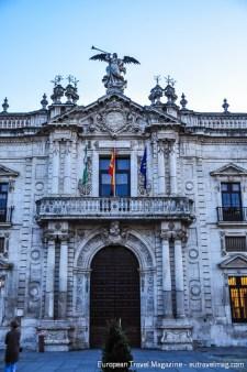 Baroque entrance to the enormous Royal Tobacco Factory