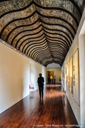 Wonderful renaissance vaulted ceiling inside the museum