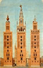Los tres principales estados de la torre de Sevilla, 1909, autor Alejandro Guichot (Museo de Artes y Costumbres Populares de Sevilla)