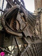 The striking Dragon Gate, a five-metre wrought iron sculpture symbolises the mythological dragon of Verdaguer