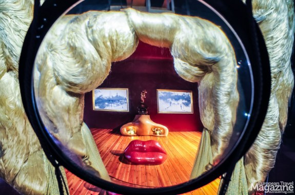 """The iconic """"Mae West"""" installation comes together in an elevated vantage point inside the museum"""