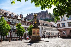 """""""Kornmarkt"""" has a lovely view to the castle"""