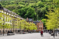 """""""Friedrich-Ebert-Platz"""", named after Germany's first president from 1919 to 1925, who was born in Heidelberg"""