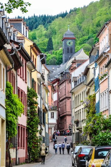 """View from one of the many charming streets in """"Altstadt"""""""