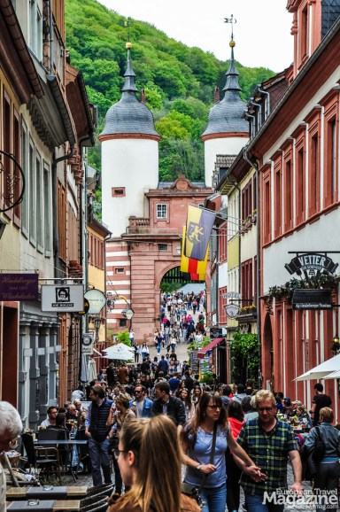 "View to ""Brückentor"" from ""Altstadt"""