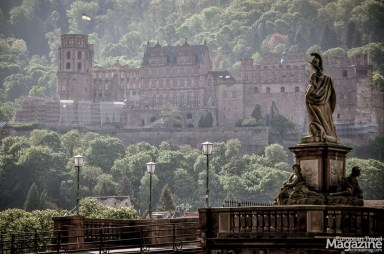 """View to castle from """"Alte Brücke"""" - Old Bridge"""