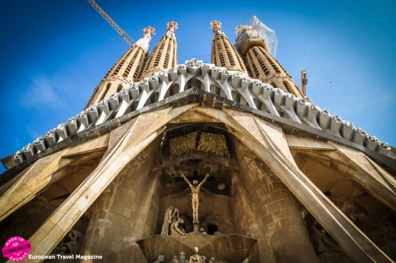 The Passion facade is the newest addition to the basilica, that is presumed finished in 2026