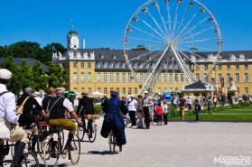 Vintage Bike Parade through the streets of Karlsruhe