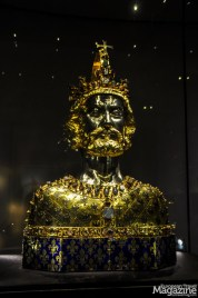 Bust of Charlemagne, kept in the Treasury of Aachen cathedral, Germany