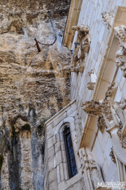 Above Chapelle de Notre-Dame, the legendary sword Durandal is stuck into the rock