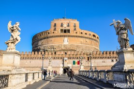 The awe-inspiring Castel Sant'Angelo was initially built as a mausoleum for the Roman Emperor Hadrian and his family in the 2nd century A.D..